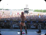 Shirley Manson and Garbage at Glastonbury