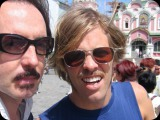 Butch Vig and Taylor Hawkins in Moscow