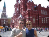 Eric Avery (Janes Addiction) and Taylor Hawkins (Foo Fighters) in Moscow